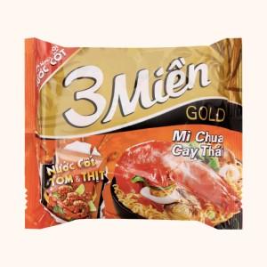 Mì 3 Miền Gold chua cay Thái gói 75g