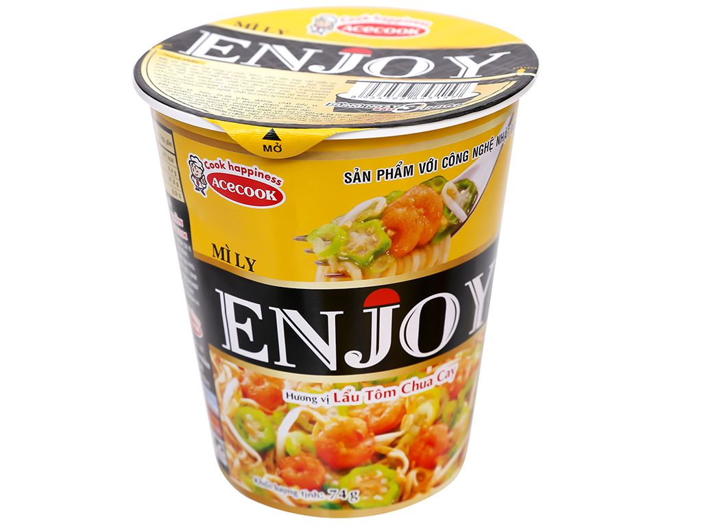 Mì Enjoy lẩu tôm chua cay ly 74g 1