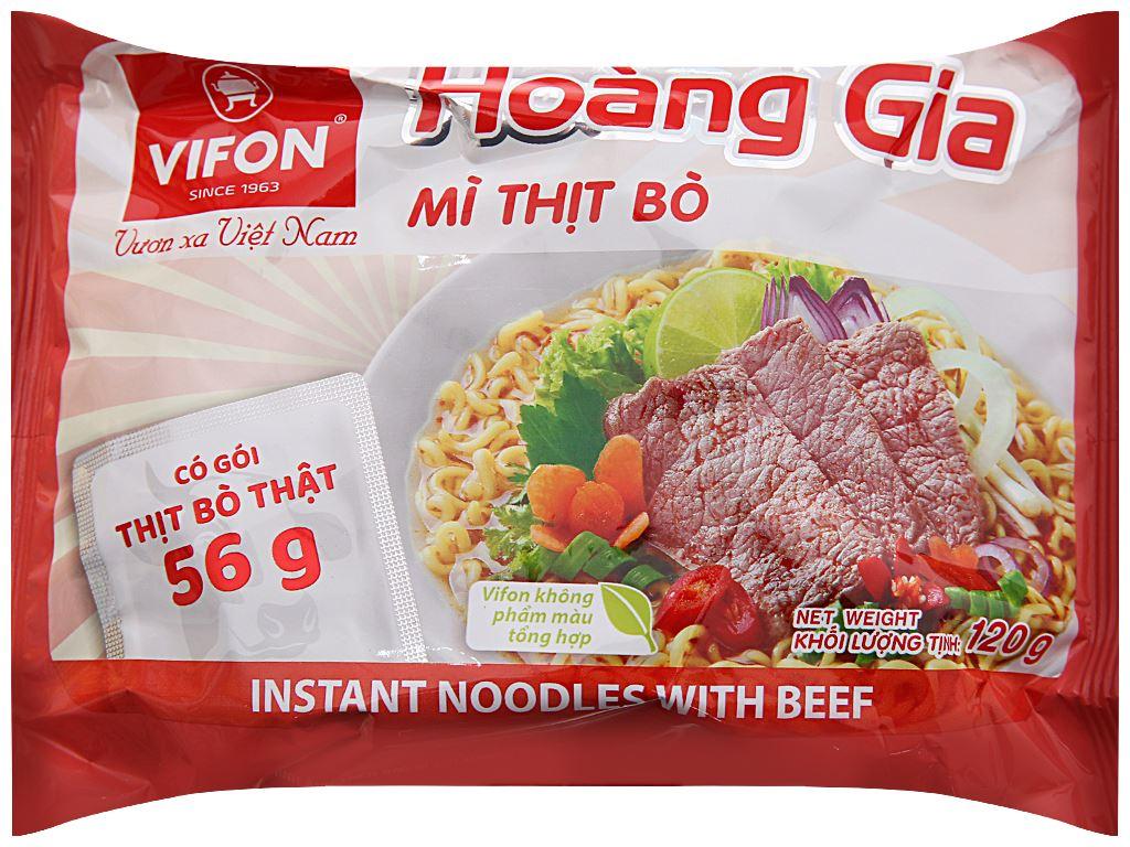 Mì thịt bò Vifon Hoàng Gia gói 120g (có gói thịt thật) 1