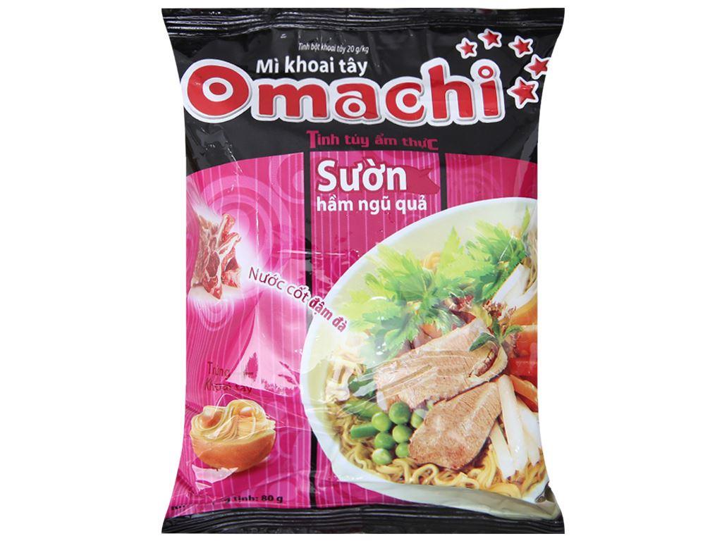 Thùng 30 gói mì khoai tây Omachi sườn hầm ngũ quả 80g 2