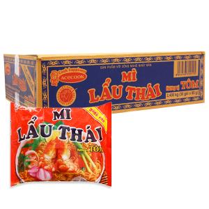 Thùng 30 gói mì Lẩu Thái hương vị tôm 80g
