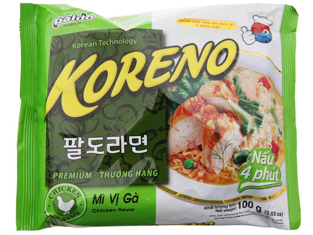 Mì Koreno Thượng hạng vị gà gói 100g 1