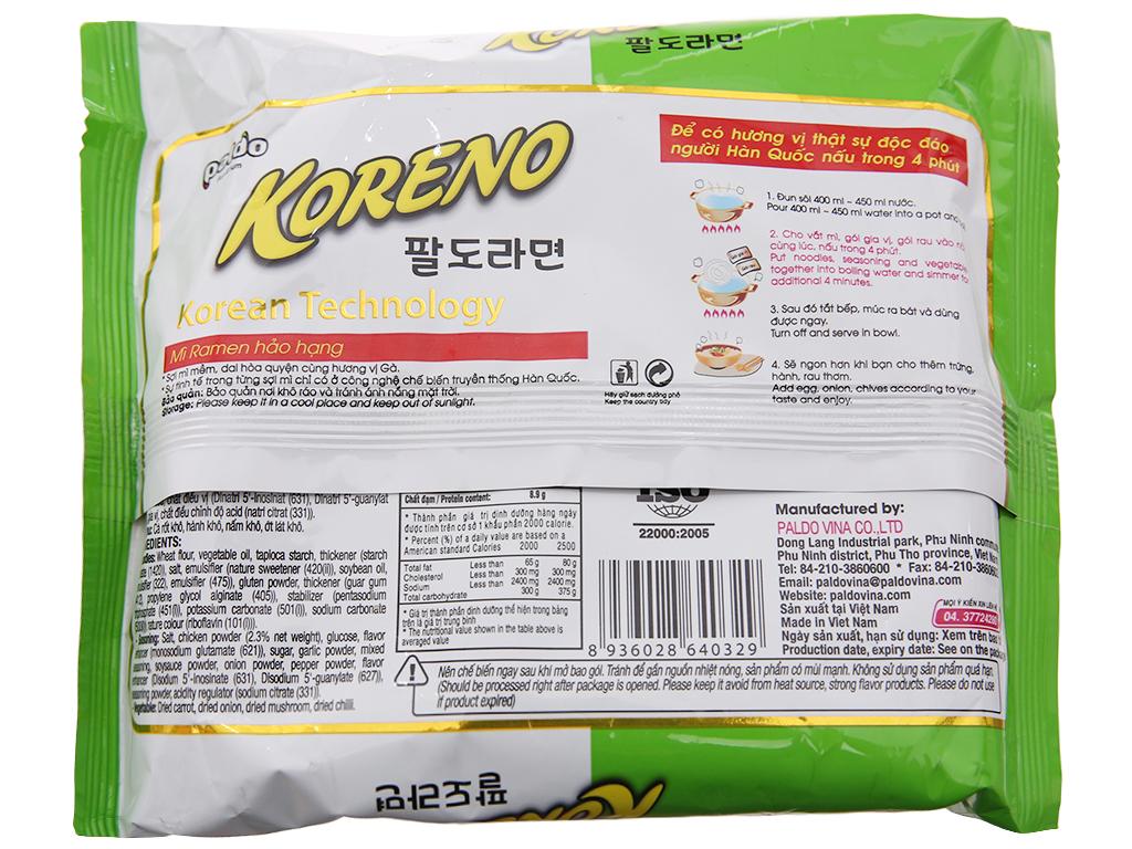 Mì Koreno Thượng hạng vị gà gói 100g 2