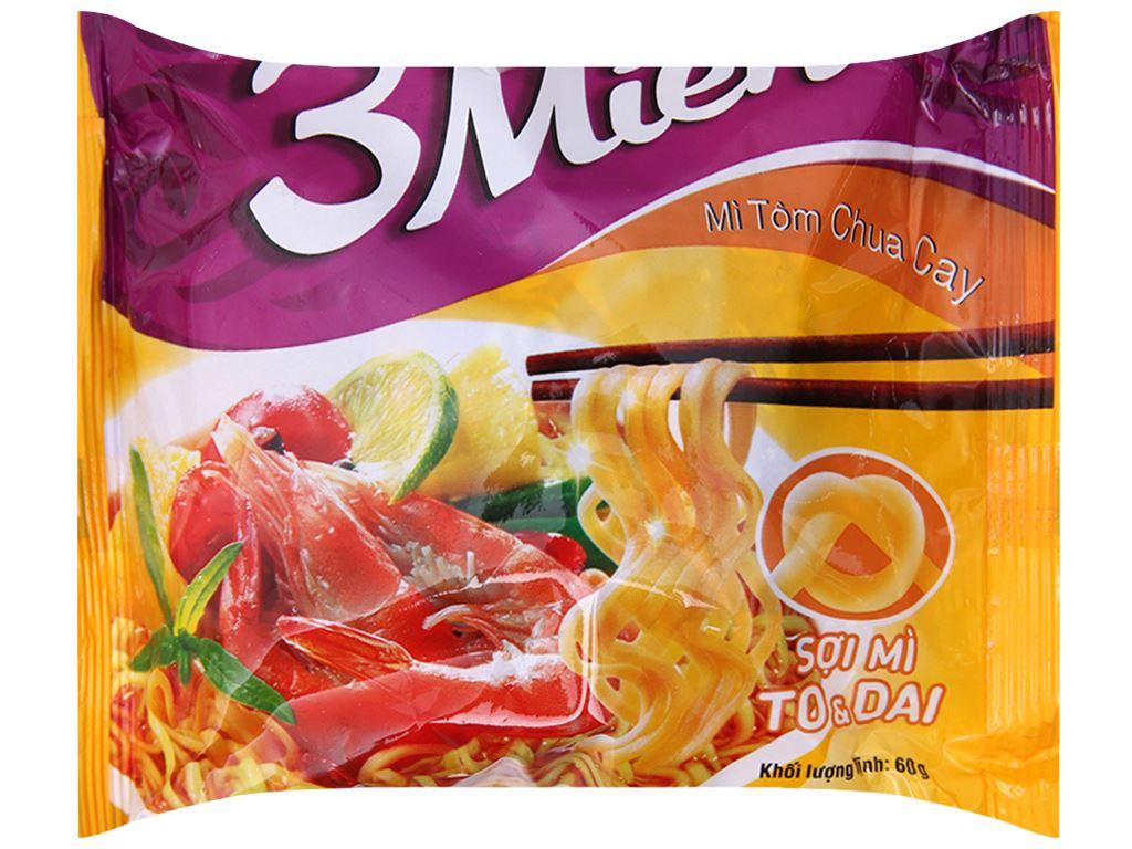 Mì 3 Miền tôm chua cay gói 60g 1