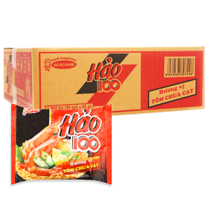 Thùng 30 gói mì Hảo 100 tôm chua cay 65g