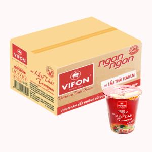 Thùng 24 ly mì lẩu thái Tomyum Vifon Ngon Ngon 60g