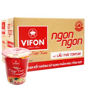 Thùng 24 ly mì Vifon Ngon Ngon lẩu Thái Tomyum 60g