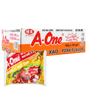 Thùng 30 gói Mì A-One thịt xào 85g