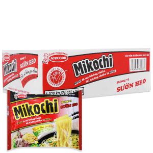 Thùng 24 gói Mì không chiên Mikochi sườn heo 80g