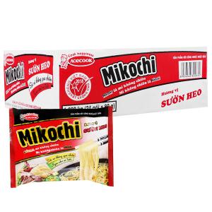 Thùng 24 gói mì không chiên Mikochi hương vị sườn heo 80g