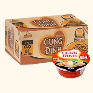 Thùng 12 tô mì khoai tây Cung Đình cua bể rau răm 80g