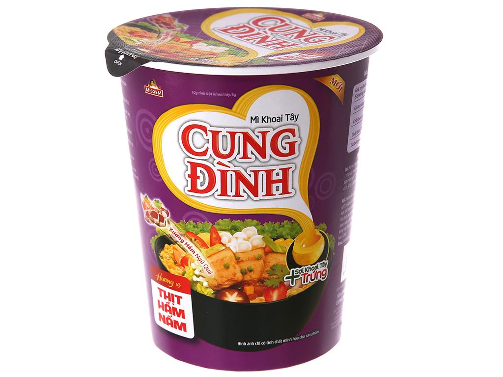 Thùng 24 ly mì khoai tây Cung Đình thịt hầm nấm 65g 3