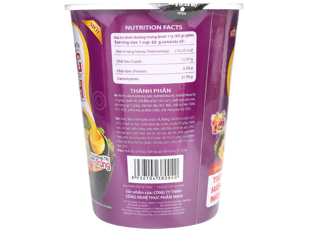 Thùng 24 ly mì khoai tây Cung Đình vị thịt hầm nấm 65g 8