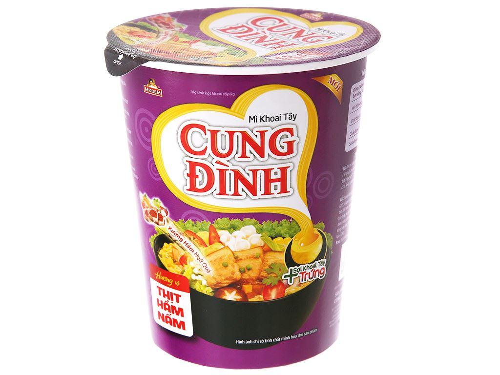 Thùng 24 ly mì khoai tây Cung Đình vị thịt hầm nấm 65g 2
