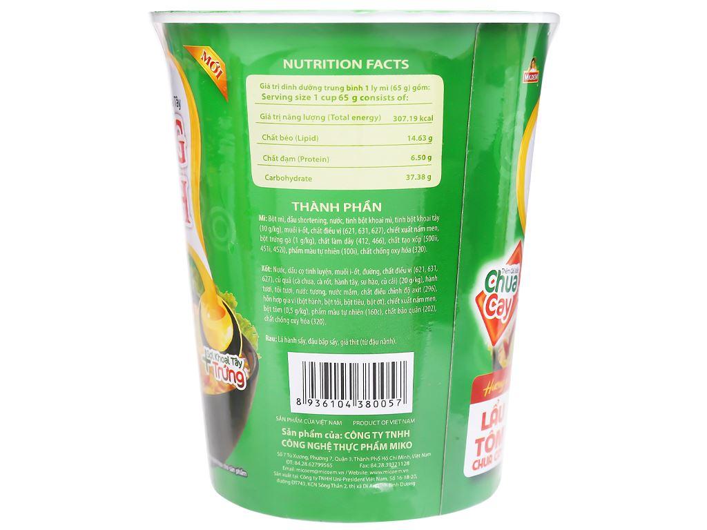 Thùng 24 ly mì khoai tây Cung Đình lẩu tôm chua cay 65g 8