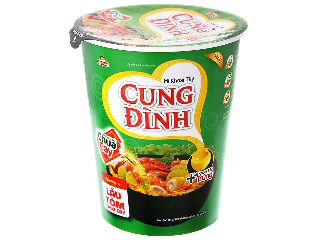 Thùng 24 ly mì khoai tây Cung Đình lẩu tôm chua cay 65g 2