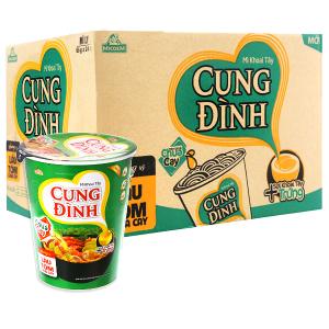 Thùng 24 ly mì khoai tây Cung Đình hương vị lẩu tôm chua cay 65g