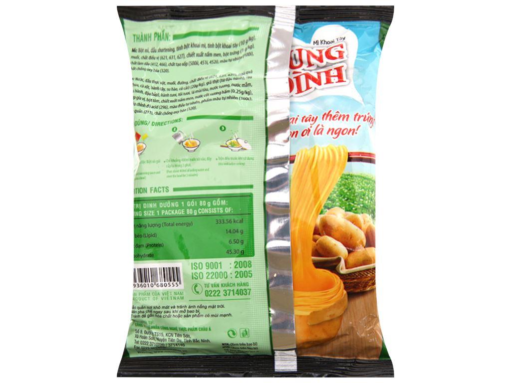 Thùng 30 gói Mì khoai tây Cung Đình lẩu tôm chua cay 80g 5