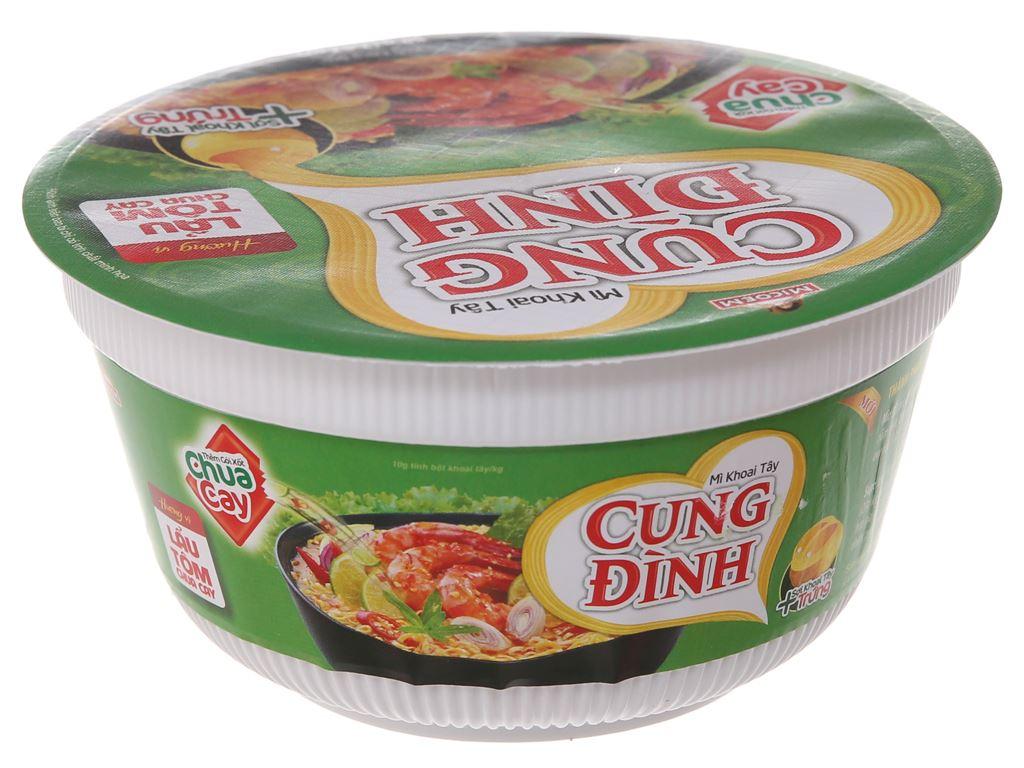 Thùng 12 tô mì khoai tây Cung Đình lẩu tôm chua cay 80g 3