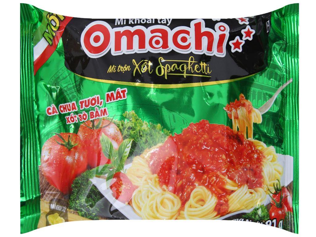 Thùng 30 gói Mì khoai tây Omachi xốt Spaghetti 91g 2