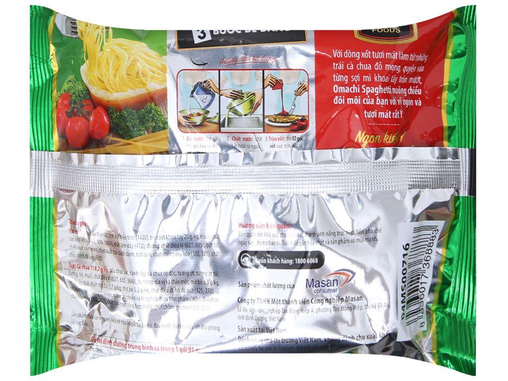 Thùng 30 gói Mì khoai tây Omachi xốt Spaghetti 91g 3