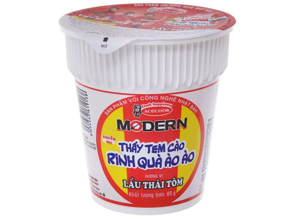 Thùng 24 ly mì Modern lẩu Thái tôm 65g 3