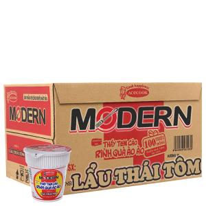 Thùng 24 ly Mì Modern lẩu Thái tôm 65g