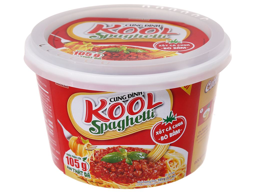 Mì Cung Đình Kool xốt Spaghetti thịt bò bằm tô 105g 2