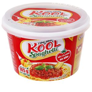 Mì trộn Cung Đình Kool xốt Spaghetti thịt bò bằm tô 105g