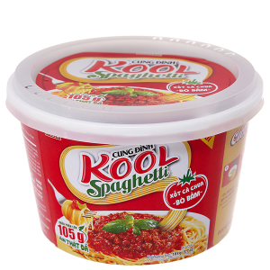 Mì khoai tây Cung Đình Kool xốt Spaghetti thịt bò bằm tô 105g