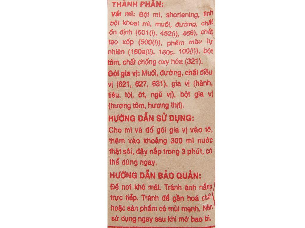 Mì tôm đặc biệt Miliket giấy vàng gói 65g 3