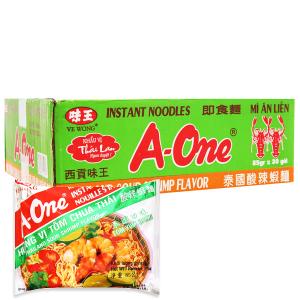 Thùng 30 gói Mì A-One tôm chua Thái 85g