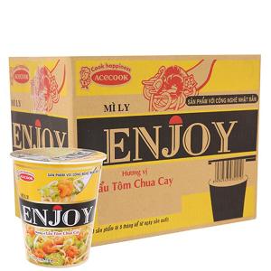Thùng 12 ly mì Enjoy lẩu tôm chua cay 77g