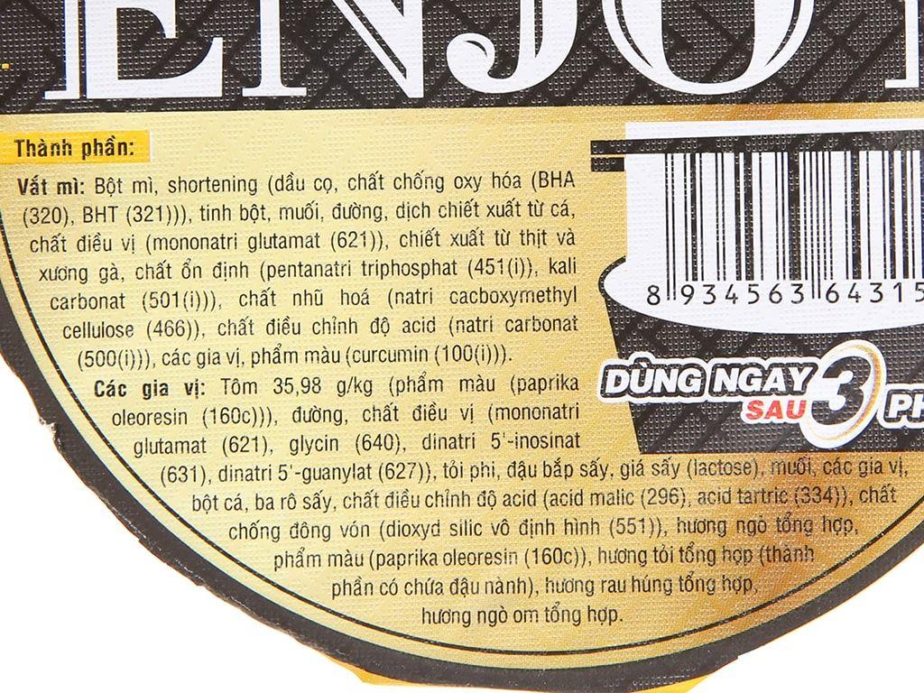 Thùng 12 ly mì Enjoy lẩu tôm chua cay 77g 5