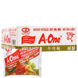 Thùng 30 gói Mì A-One thịt bò 85g