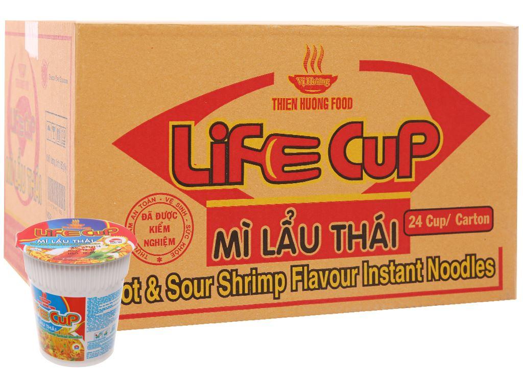 Thùng 24 ly mì Vị Hương Life Cup lẩu Thái 60g 2