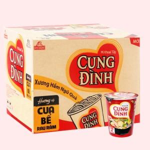 Thùng 24 ly mì khoai tây Cung Đình cua bể rau răm 65g