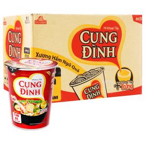 Thùng 24 ly mì khoai tây Cung Đình hương vị cua bể rau răm 65g