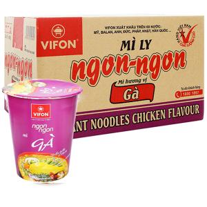 Thùng 24 ly mì Vifon Ngon Ngon gà 60g