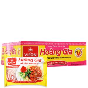 Thùng 18 gói Mì xào spaghetti Vifon Hoàng Gia thịt heo sốt cà 120g