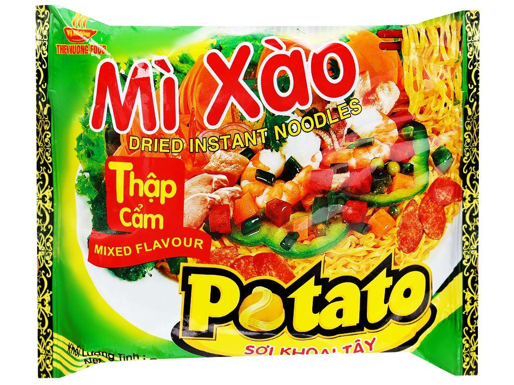 Thùng 30 gói mì xào thập cẩm Potato 75g 7