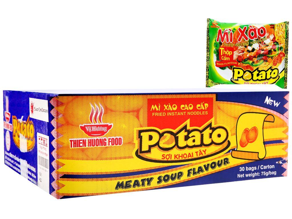 Thùng 30 gói mì xào thập cẩm Potato 75g 1