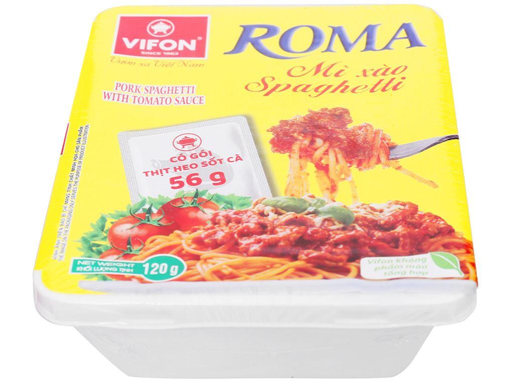 Thùng 18 khay mì xào spaghetti thịt heo xốt cà Vifon Hoàng Gia 120g 6