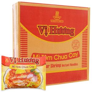 Thùng 30 gói Mì Vị Hương tôm chua cay 65g