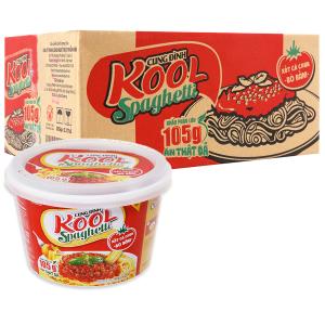 Thùng 12 tô mì trộn Cung Đình Kool xốt Spaghetti thịt bò bằm 105g