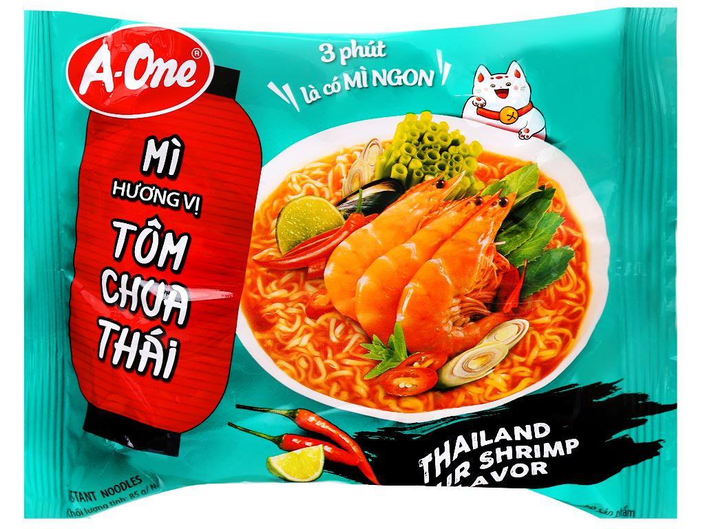 Mì A-One tôm chua Thái gói 85g 4