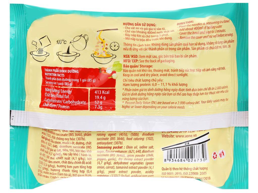 Mì A-One tôm chua Thái gói 85g 5