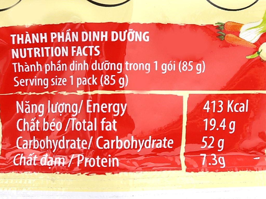 Mì A-One tôm chua Thái gói 85g 6