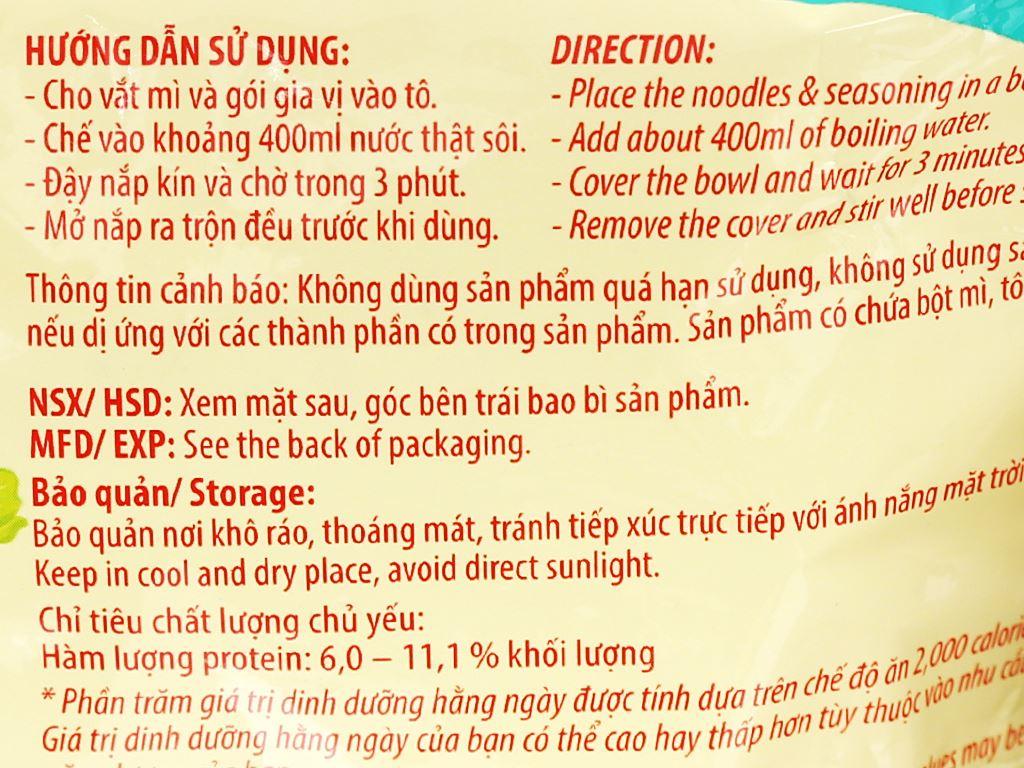 Mì A-One tôm chua Thái gói 85g 7