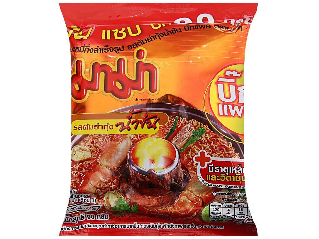 Mì Mama hương tôm sốt kem Tom Yum gói 90g 2
